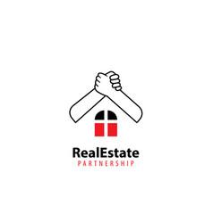 Real estate partnership logo vector