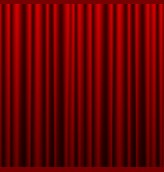 Red theater curtain background for banner vector