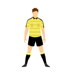 referee football yellow uniform vector image