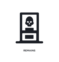 Remains isolated icon simple element from museum vector