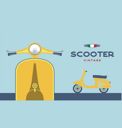 retro scooter image vector image