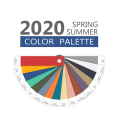 Round spring and summer 2020 colors palette vector
