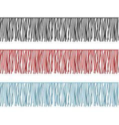 Ruffles edge fringe seamless rows garments vector