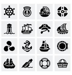 Saiboat icon set vector