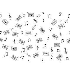 seamless musical symbols and marks seamless backgr vector image