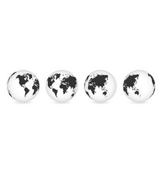 set transparent globes earth realistic vector image