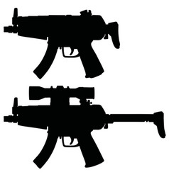 Short submachine gun vector