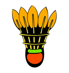 Shuttlecock icon icon cartoon vector