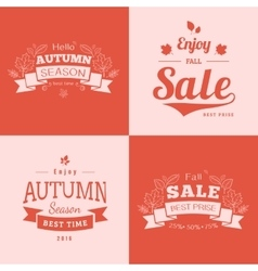 Simple autumn backdrops with sale text vector