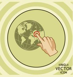 single color flat icon geo tagging vector image