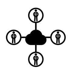 social network people icon 96x96 pictogram vector image