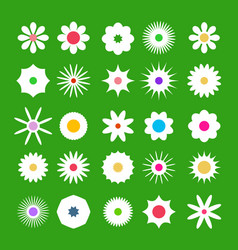 spring flover icons flat design flowers set on vector image