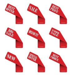 Sticker best offer vector