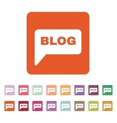 The speech bubble with a blog icon Internet and vector image