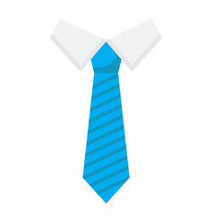 Tie flat icon business and necktie vector