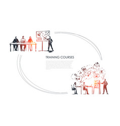 training courses - students listening vector image