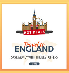 travel to england travel template banners for vector image