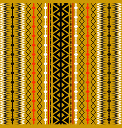 tribal striped seamless pattern abstract vector image
