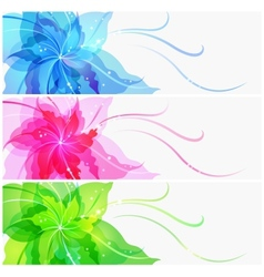 Triple EPS10 colorful flower background vector image