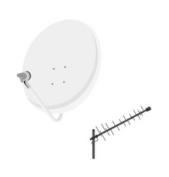 tv antenna satellite antenna vector image