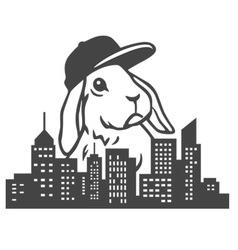 Urban rabbit vector