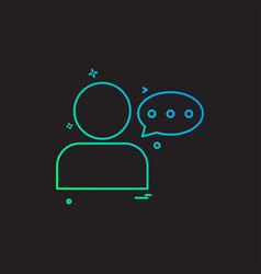 user massage massaging chat icon design vector image