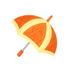 Ute orange umbrella on a vector