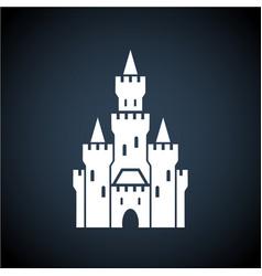 white castle symbol icon on dark background vector image