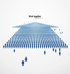 Work togetherLarge group of people in the form of vector