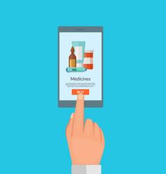 buy online medicines concept vector image vector image