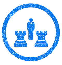 chess strategy rounded grainy icon vector image vector image