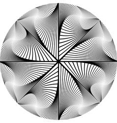 Design monochrome circular abstract background vector image vector image