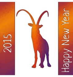 Geometric pattern goat for new year vector image vector image