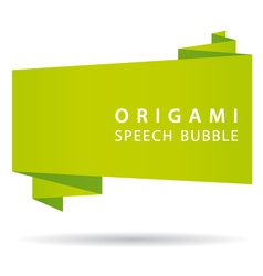 green origami speech bubble vector image vector image