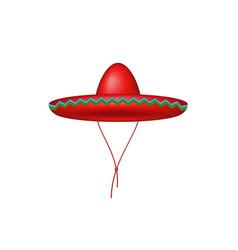 sombrero hat in red design vector image