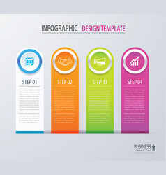 business infographics with 4 steps number options vector image vector image