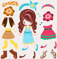 Dress up vintage style vector image vector image