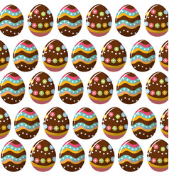 easter eggs with nice decoration background vector image