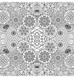 Symmetrical floral seamless background vector image vector image