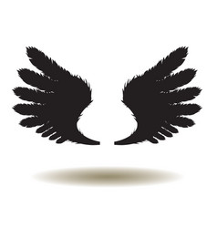 wings icon vector image