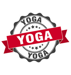 yoga stamp sign seal vector image vector image
