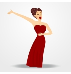 young beautiful opera singer vector image