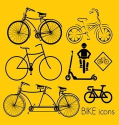 biciklo varijante1 vector image vector image