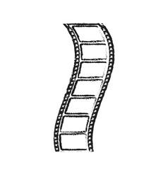 Blurred silhouette image movie tape film icon vector