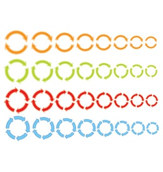 cycling arrows icons vector image