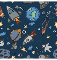 Doodle pattern cosmos vector image vector image