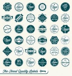Set of Finest Quality Labels vector image vector image