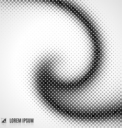 abstract white and black background with spiral vector image vector image