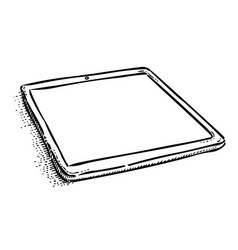 cartoon image of tablet computer with blank screen vector image vector image