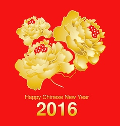 Chinese new year blooming peony flower design vector